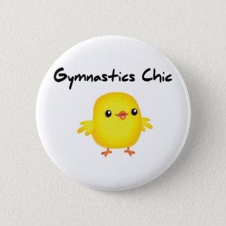Badge Rond 5 Cm Chemises chics de gymnastique mignonne pour des
