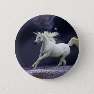 Badge Rond 5 Cm Chevaux d'imaginaire : Licorne