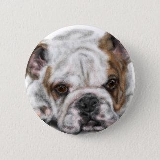 Badge Rond 5 Cm Chiot de bouledogue
