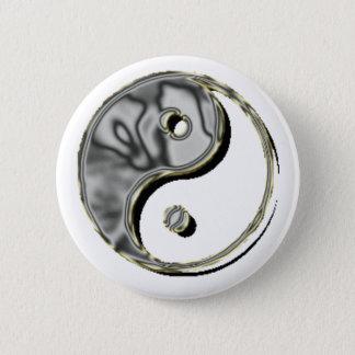 Badge Rond 5 Cm Chrome de Yin Yang