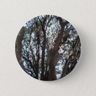 Badge Rond 5 Cm ciel bleu et mousse de chêne