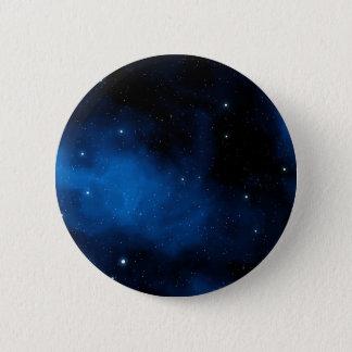 Badge Rond 5 Cm Ciel étoilé bleu