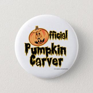Badge Rond 5 Cm Citrouille officiel Tailleur Halloween