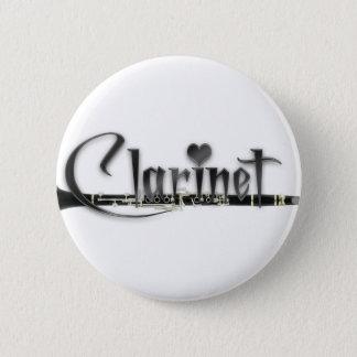 Badge Rond 5 Cm Clarinette d'amour de la clarinette I