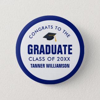 Badge Rond 5 Cm Classe de casquette de diplômé de Congrats de la