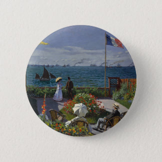 Badge Rond 5 Cm Claude Monet - le jardin à l'art de Sainte Adresse