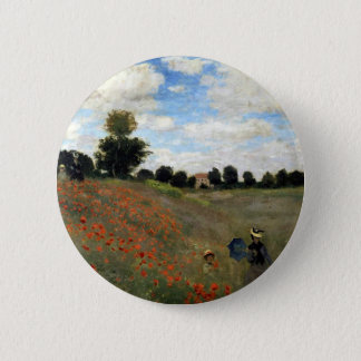 Badge Rond 5 Cm Claude Monet - Les Coquelicots