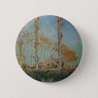 Badge Rond 5 Cm Claude Monet - l'illustration de peupliers
