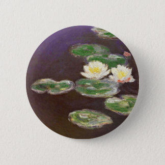 Badge Rond 5 Cm Claude Monet - nénuphars