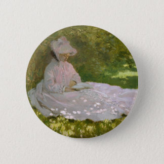 Badge Rond 5 Cm Claude Monet - oeuvre d'art de printemps