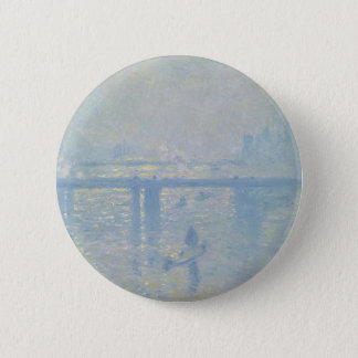 Badge Rond 5 Cm Claude Monet - pont croisé de Charing. Art