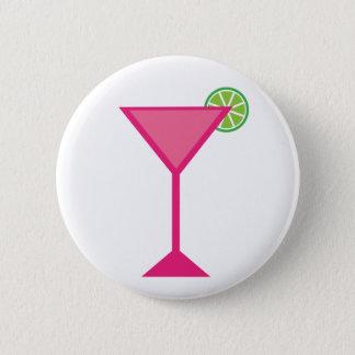 Badge Rond 5 Cm Cocktail rose avec la chaux