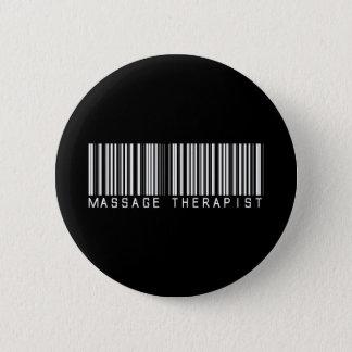 Badge Rond 5 Cm Code barres de thérapeute de massage