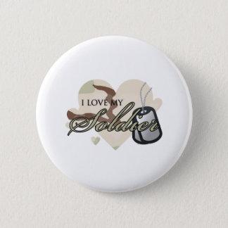 Badge Rond 5 Cm Coeur de camouflage