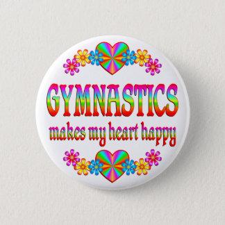Badge Rond 5 Cm Coeur de gymnastique heureux
