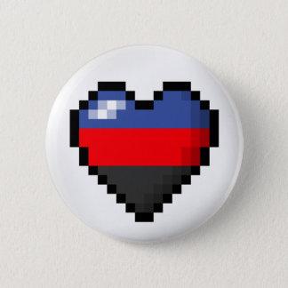 Badge Rond 5 Cm Coeur de pixel de Polyamorous