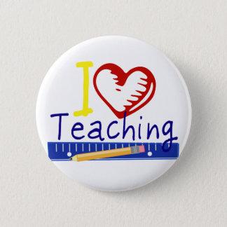 Badge Rond 5 Cm (Coeur) enseignement I