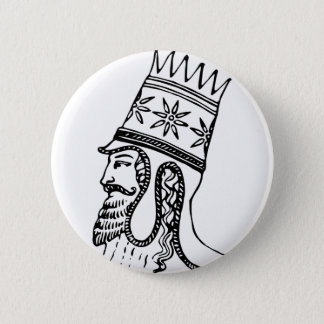 Badge Rond 5 Cm Coiffe royale persane