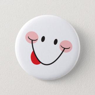 Badge Rond 5 Cm Collage du bouton de taquinerie de langue