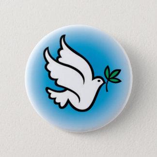 Badge Rond 5 Cm colombe de paix