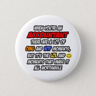 Badge Rond 5 Cm Comptable. OMG WTF LOL