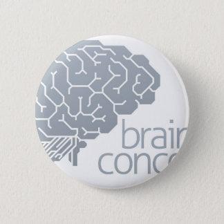 Badge Rond 5 Cm Concept latéral de cerveau