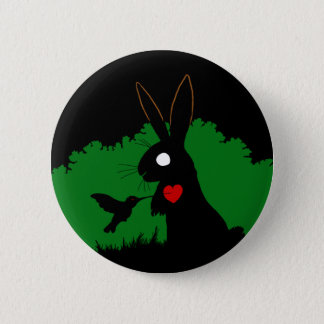 Badge Rond 5 Cm Conception 1 de bouton de lapin d'ombre