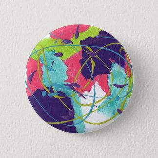 Badge Rond 5 Cm Conception abstraite de la peinture originale