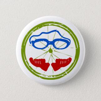 Badge Rond 5 Cm Conception artistique fraîche de triathlon