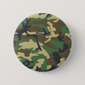 Badge Rond 5 Cm Conception de camouflage de région boisée
