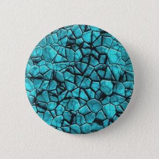 Badge Rond 5 Cm Conception en pierre de marbre bleue fraîche de