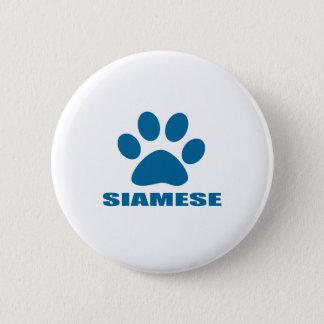 BADGE ROND 5 CM CONCEPTIONS DE CAT SIAMOIS