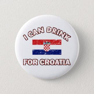 Badge Rond 5 Cm Conceptions potables fraîches de la Croatie