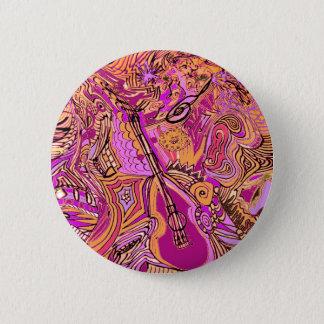 Badge Rond 5 Cm Confiture bariolée de musique rose