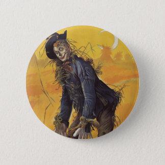 Badge Rond 5 Cm Conte de fées vintage, l'épouvantail de magicien