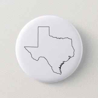 Badge Rond 5 Cm Contour de collection du Texas