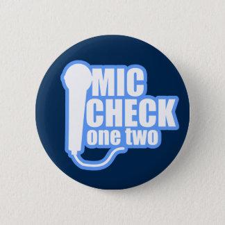 Badge Rond 5 Cm Contrôleur de microphone