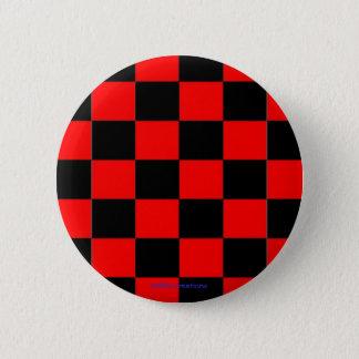 Badge Rond 5 Cm contrôleurs noirs et rouges de bouton -