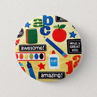 Badge Rond 5 Cm Copie de tissu de jours d'école