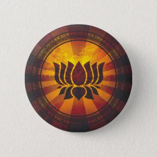 Badge Rond 5 Cm Copie vintage de fleur de Lotus