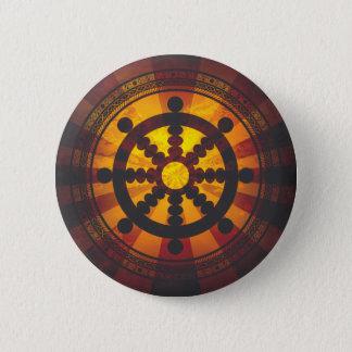 Badge Rond 5 Cm Copie vintage de roue de Dharma