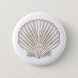 Badge Rond 5 Cm Coquillage de style d'aerographe