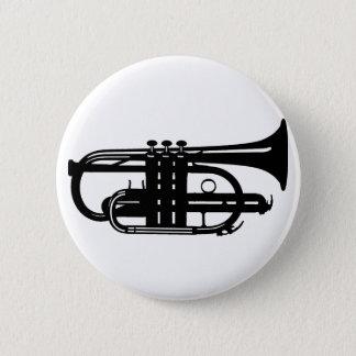 Badge Rond 5 Cm Cornet d'instrument de musique - musiciens