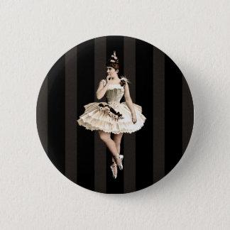 Badge Rond 5 Cm Couleurs foncées de ballerine vintage