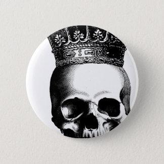 Badge Rond 5 Cm Couronne de crâne de Halloween royale
