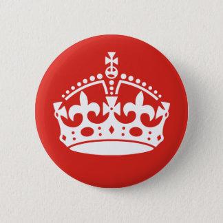 Badge Rond 5 Cm Couronne royale britannique