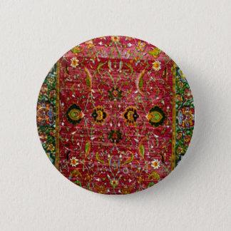Badge Rond 5 Cm Couverture orientale en rouge et le vert