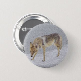 Badge Rond 5 Cm Coyote