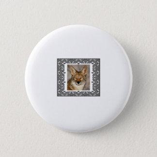 Badge Rond 5 Cm coyote dans un cadre