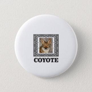 Badge Rond 5 Cm coyote dans une boîte